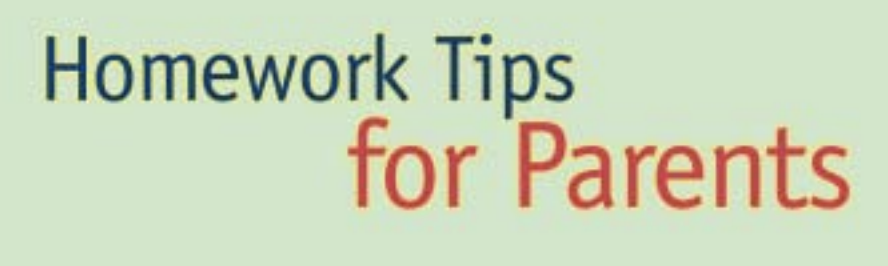 Homework Tips for Parents – ed.gov (pdf)
