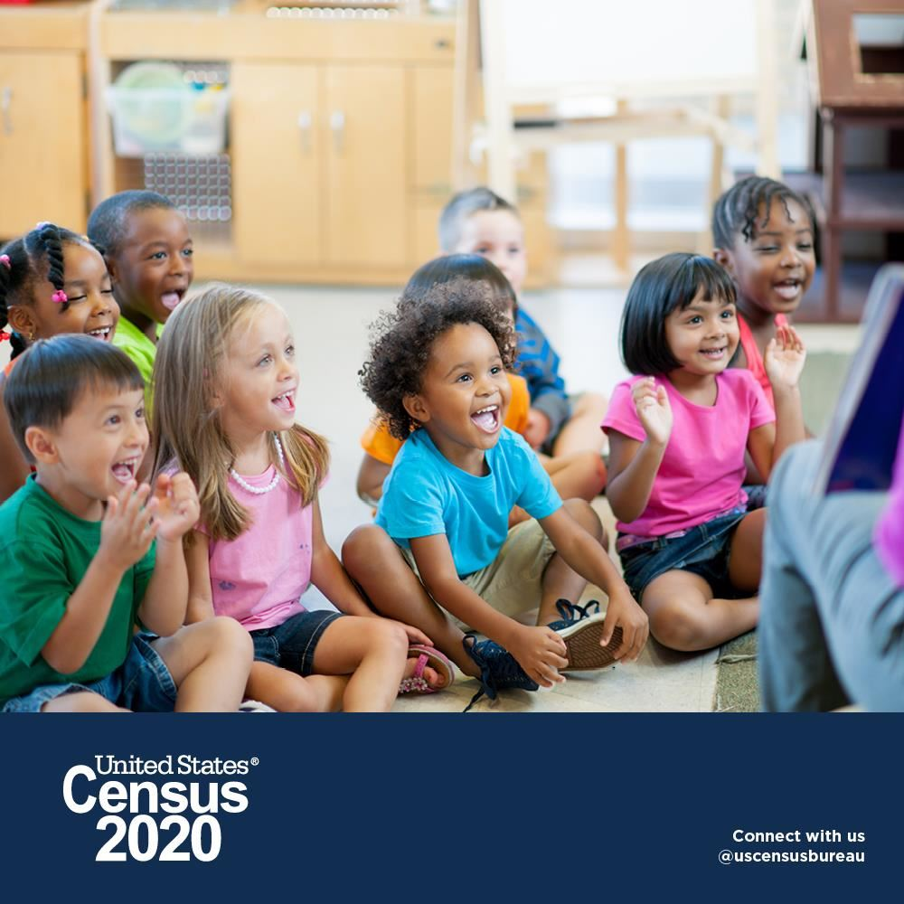 Census 2020 - kids smiling and learning