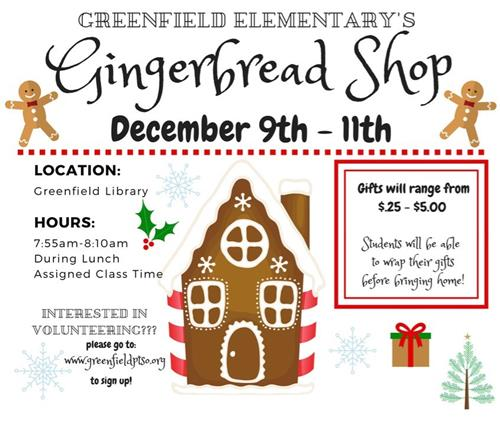 Gingerbread Store Flyer