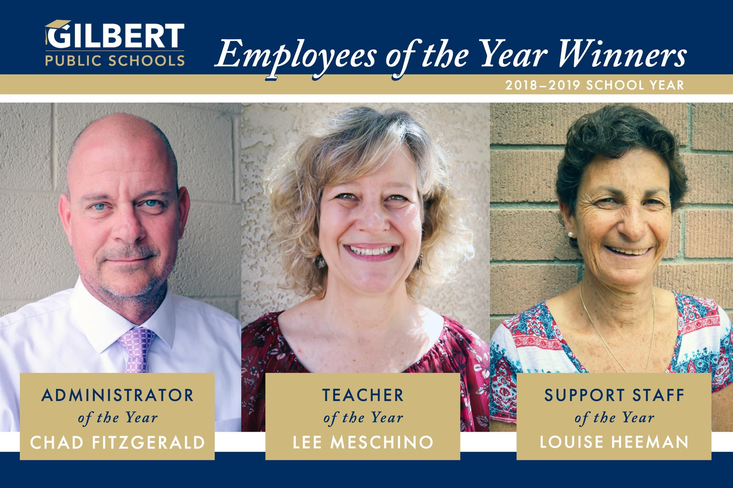Gilbert Public Schools 2018–2019 Employees of the Year Winners!