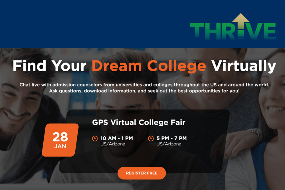 GPS Virtual College Fair - Register Today!