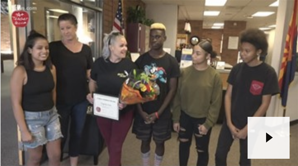 Our very own Ginny Lara was selected as the A+ Teacher of the Week by 12News.
