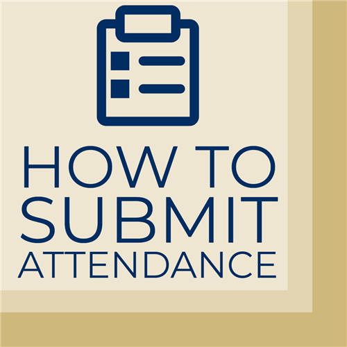 How to Submit Attendance