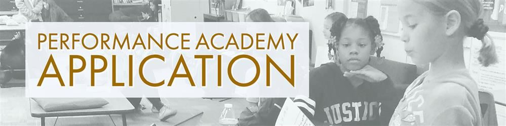 Performance Academy application banner